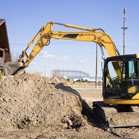 不動産・土木部門も完備宅地造成工事・宅地提供など家づくりのすべてを行います。